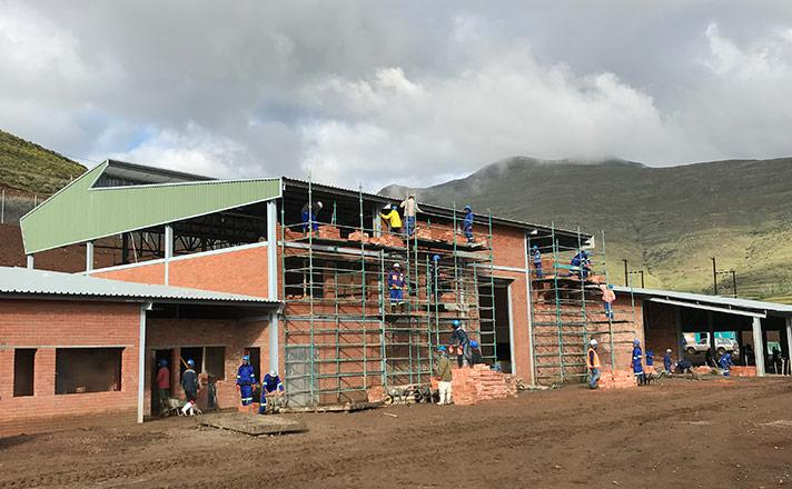 Medigrow Lesotho Pty Ltd  early stage building