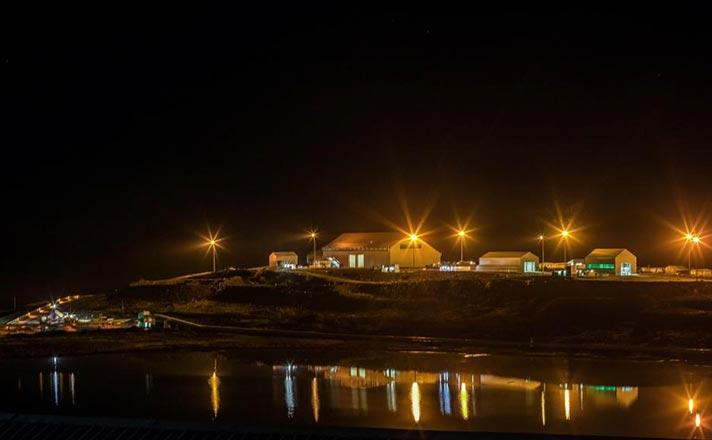 Letseng Mining Complex at night